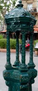 fontaine wallace à colonette